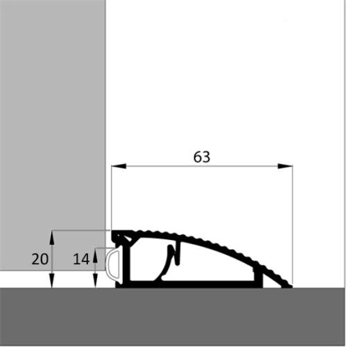 t rschwelle akw alu in l nge 180 cm 22 20 euro m h he 20 mm x breite 63 mm. Black Bedroom Furniture Sets. Home Design Ideas