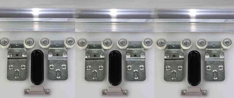 Schiebetürbeschlag für schranktüren  Tubel 38-240 für 3 Türen Öffnungsbreite bis 240 cm