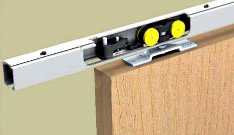 schiebet rbeschlag saf 80d 200 cm f r deckenbefestigung mit einzugsd mpfung. Black Bedroom Furniture Sets. Home Design Ideas