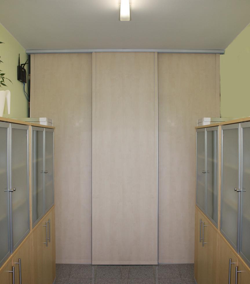 Schiebetür  Beschlag für 6 Türen  6 x 60 kg