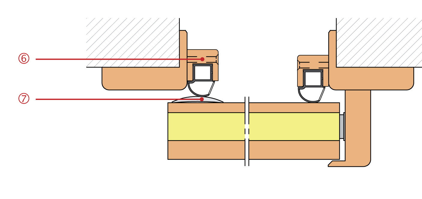 athmer unitherm slide 22 22 dichtungsleiste buche 2 meter 16 90 m. Black Bedroom Furniture Sets. Home Design Ideas