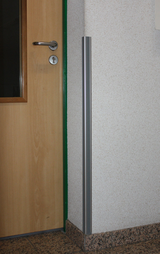 Mauerkantenschutz ms40 aluminium rubbertex grau 40x40 mm for Fenster 40x40