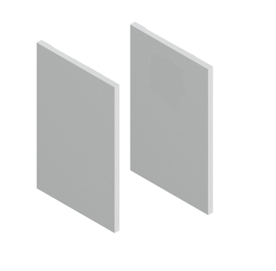 Gl/änzendes Silber Motorhaube Lufteinl/ässe Rahmen Zierleisten 2Stk