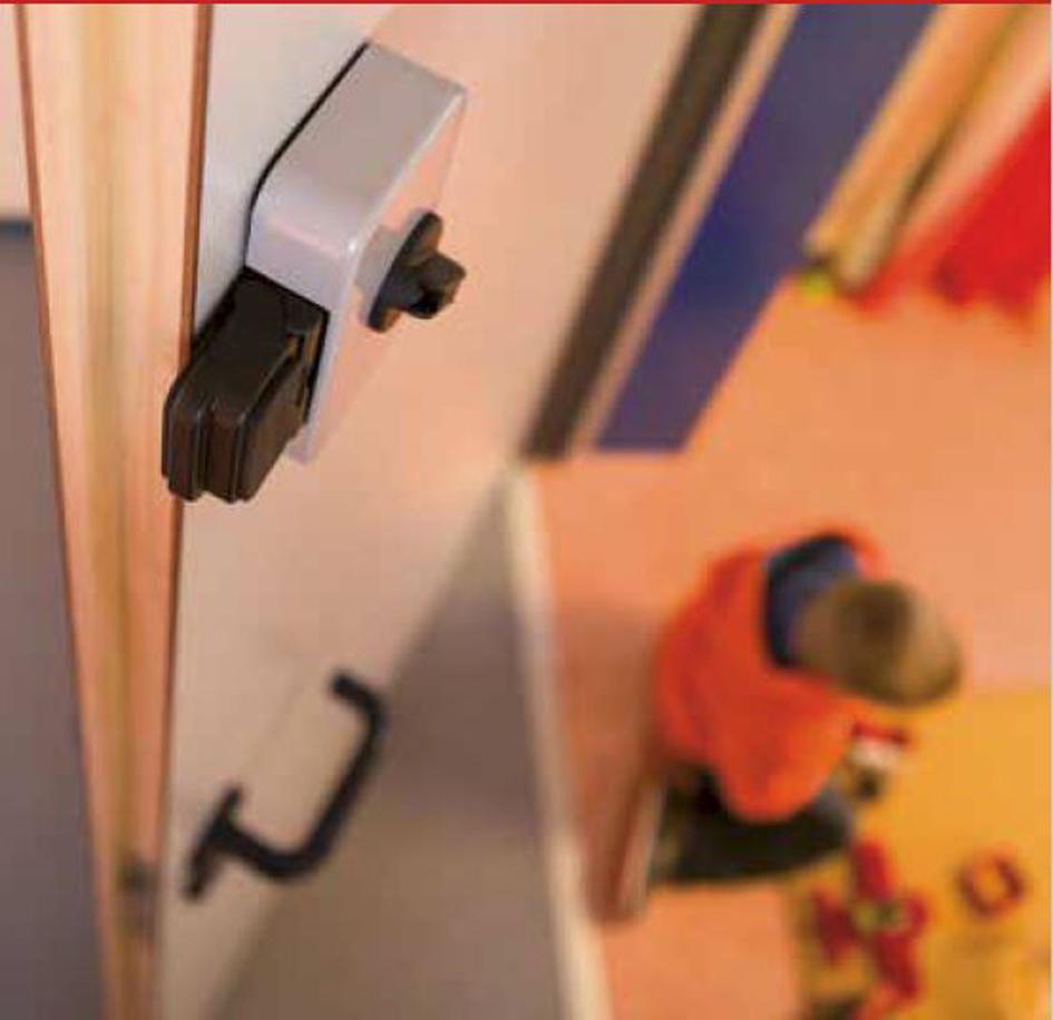 athmer hs-25 tür-stopp sicherheitsriegel für die hauptschließkante